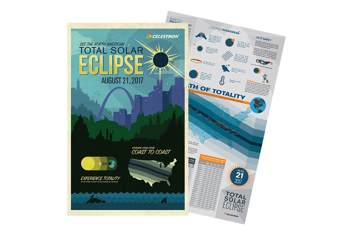 Celestron ISO Certified, 2017 North American Total Solar Eclipse EclipSmart 2X Power Viewers Solar Observing Kit, Black (44406) by Celestron (Image #6)
