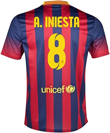 servidor Fértil Estribillo  Nike Barcelona FC Football Shirt (A. Iniesta 8) 2013 – 14, A.Iniesta 8:  Amazon.co.uk: Clothing