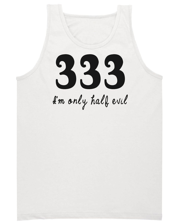 333 I'm Only Half Evil Men's Tank Top Shirt XX-Large
