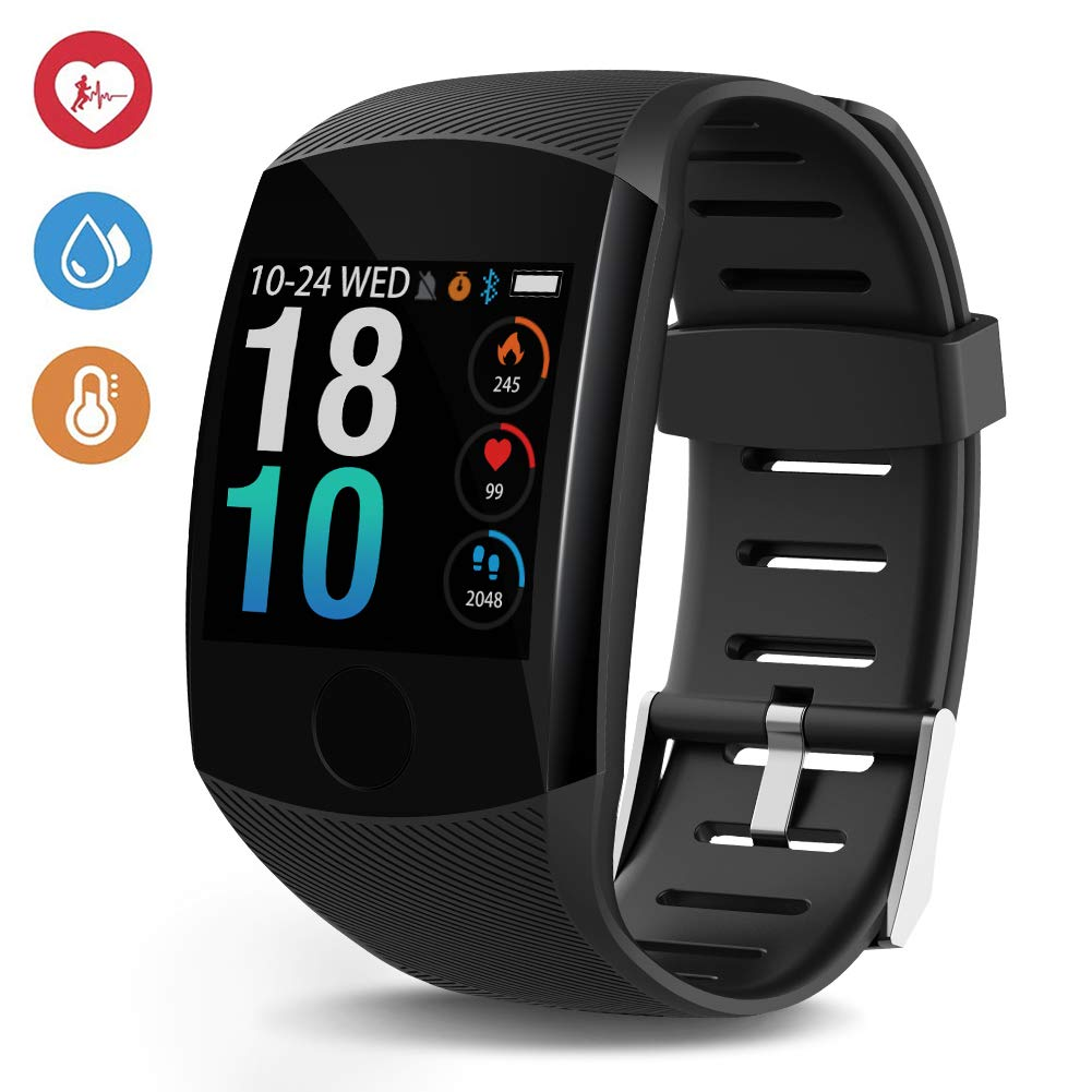Deyawe Fitness Tracker,2019 Upgraded IP67 Activity Tracker Watch with Heart Rate Monitor Step Counter Calorie Counter Pedometer for Men Women Kids 2019 Version