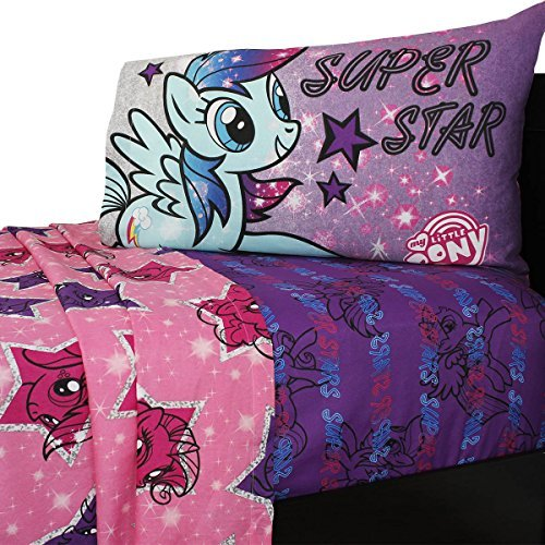 Hasbro My My Little Pony The Stars are Out Sheet Set, Twin (Mlp The Best Night Ever)
