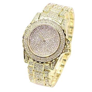 ❤ Amlaiworld Reloje Mujer reloj deportivo baratos Reloj de pulsera Relojes de cuarzo analógico para mujer Diamantes de negocios (Oro): Amazon.es: ...