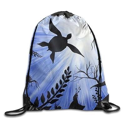 3D Print Drawstring Backpack Rucksack Shoulder Bags Gym Bag Lightweight Travel Backpack Deepsea World