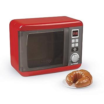 Smoby- Microondas de Juguete, Color Rojo (310586)