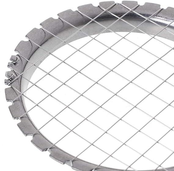 Stainless Steel Mesh Shape Round Manual Potato Masher Slicer Tool Kitchen Supply RingBuu Potato Slicer