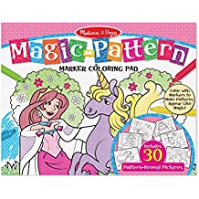 Melissa & Doug Magic-Pattern Marker Kids' Coloring Pad - Princesses, Ponies, Parties, and More