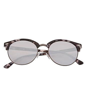 985be2224185e Joe Browns Tortoiseshell Frame Clubmaster Sunglasses with Mirror Lenses  Grey Multicoloured One Size  Amazon.co.uk  Clothing