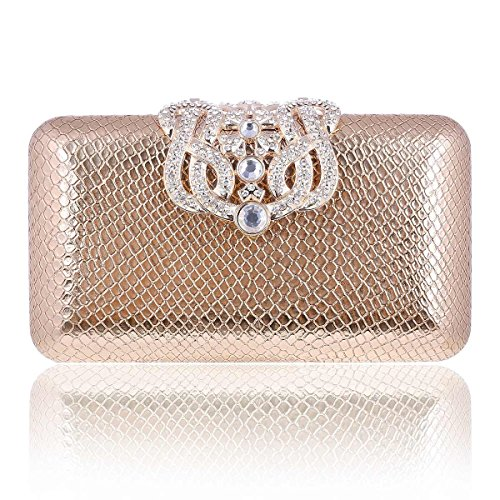 Clutch Damara Lady Champagne Damara Rhinestone Bag Decorative Minaudiere Event Lady OwZ0UqyBZ