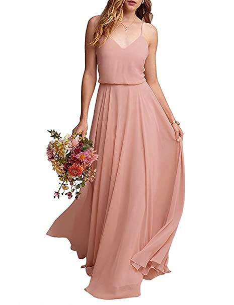 4a0e64330ec3 CLOTHKNOW Strapless Chiffon Bridesmaid Dresses Long with Shoulder Ruffles  for Women Girls to Wedding Party Gowns Xmas Ornaments