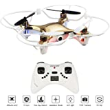 SINOCHIP RC Helicopter Drone with Camera RTF 2.4GHz 6 Axis Gyro 4 Channel Quadcopter Easy Fly for Beginners & Drone Training (Golden)