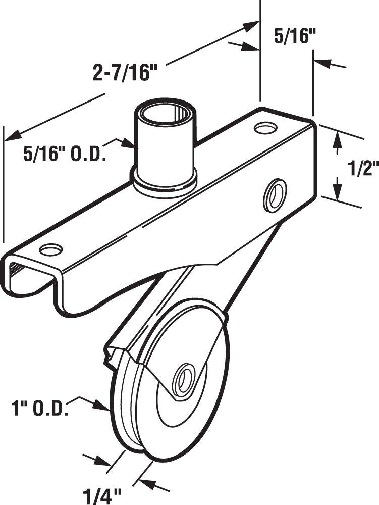 Pack of 2 1-Inch Steel Wheel, Prime-Line B 702 Screen Door Roller Assembly