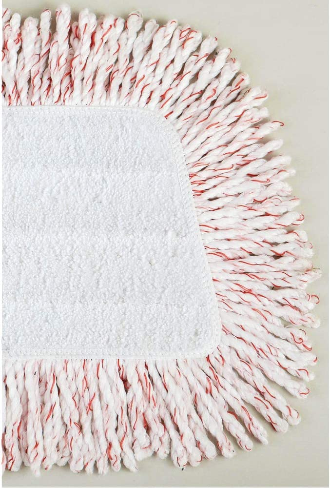 Rubbermaid 1M20 Reveal Mop Dry Dusting Cleaning Pad, 15-Inch, White/Red: Home & Kitchen