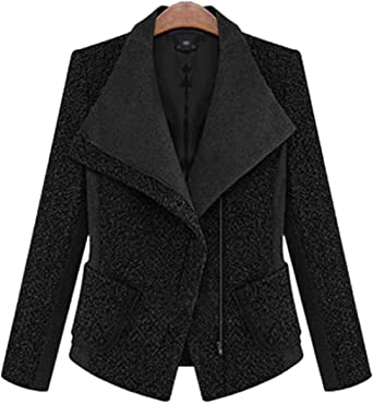 Fieer Womens Solid Slim Sleeveless Stand Collar Double Breasted Blazer Outwear