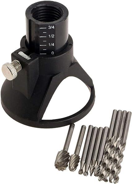 kit di fissaggio per taglio 11 set Kit di accessori per trapano rotativo multi utensile con guida di taglio HSS per fresa e fresa Dremel