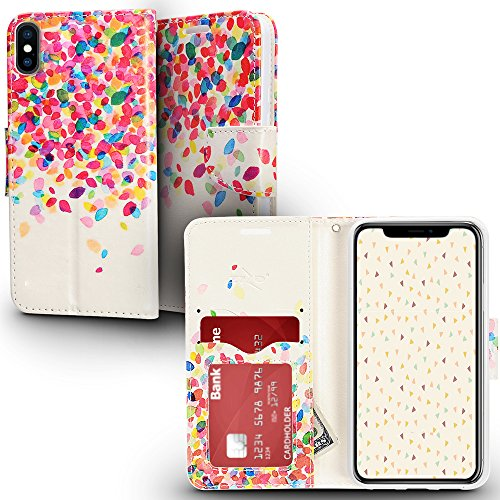 iPhone X Case - ZV Design Wallet Flap Pouch Cover [Wallet Case w/ Credit Card And ID Holder] Ultra Thin w/ Heavy Duty Protection