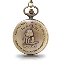 to My Son Boy's Pocket Watch,Engarved Pocket Watch for Son from Dad & Mom