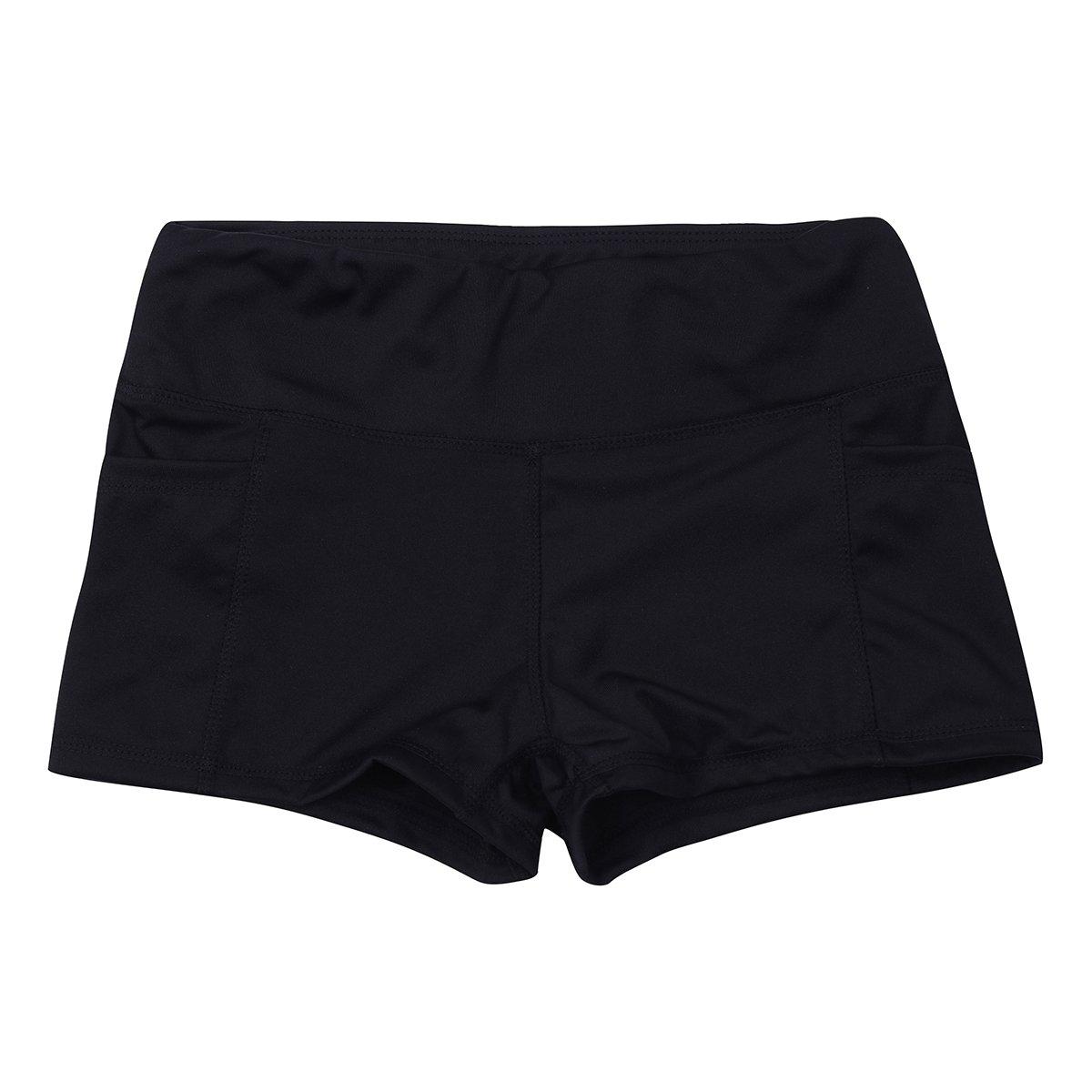iixpin Short de Danse Femme Fille Short de Sport Yoga Pilate Taille Basse Pantalon Court Legging Jogging Confortable Elastique Taille S-XL