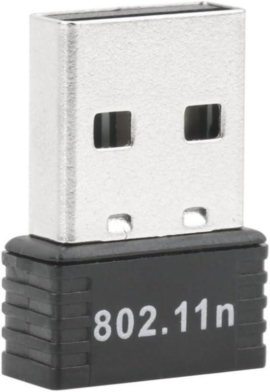 BIYI 150Mbps 150M Mini USB WiFi Adaptador inalámbrico Tarjeta LAN de Red 802.11n / g/b Soporte STBC Rango extendido (Negro)