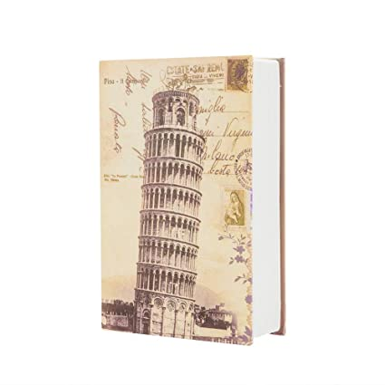 Cute Simulation English Dictionary Style Mini Safety Storage Box (Tower of Pisa, M)