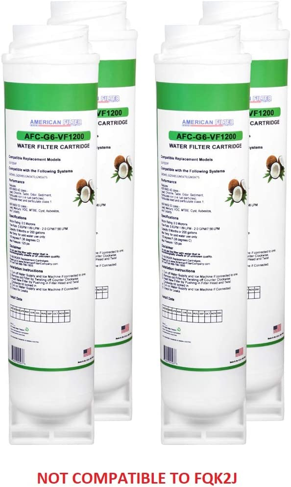 American Filter Company 4-Pack (TM) Brand Water Filters (Comparable with to GE (R) FQSVF Water Filters)