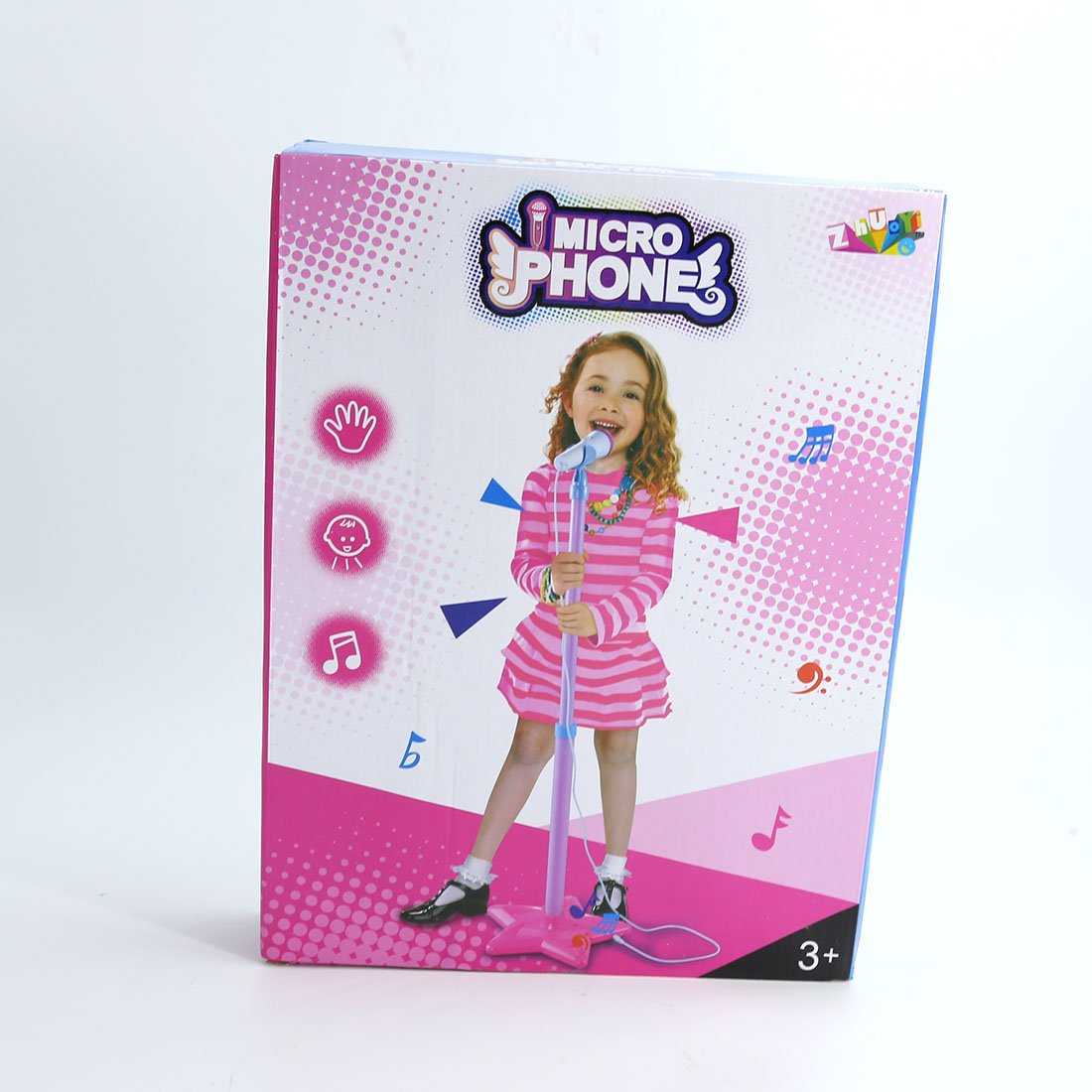 FenglinTech Microphone for Kids Portable Star Base Stand Microphone for home - (Rosy) by FenglinTech (Image #9)