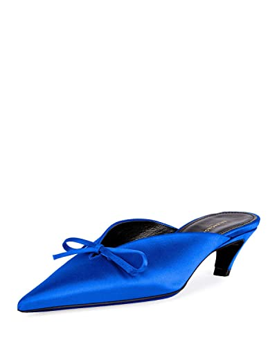 best cheap better factory price Amazon.com | Balenciaga Satin Pointed-Toe Slide Mule Shoes ...
