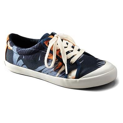 Tommy Bahama Women's Ettana Canvas Blue/Orange Sneaker 5 B ...