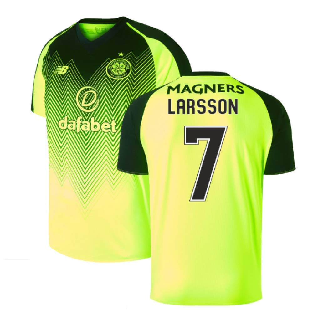 2018-2019 Celtic Third Football Soccer T-Shirt Trikot (Henrik Larsson 7)