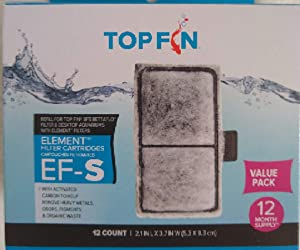 Top Fin EF-S Element Filter Cartridges - 12 Pack