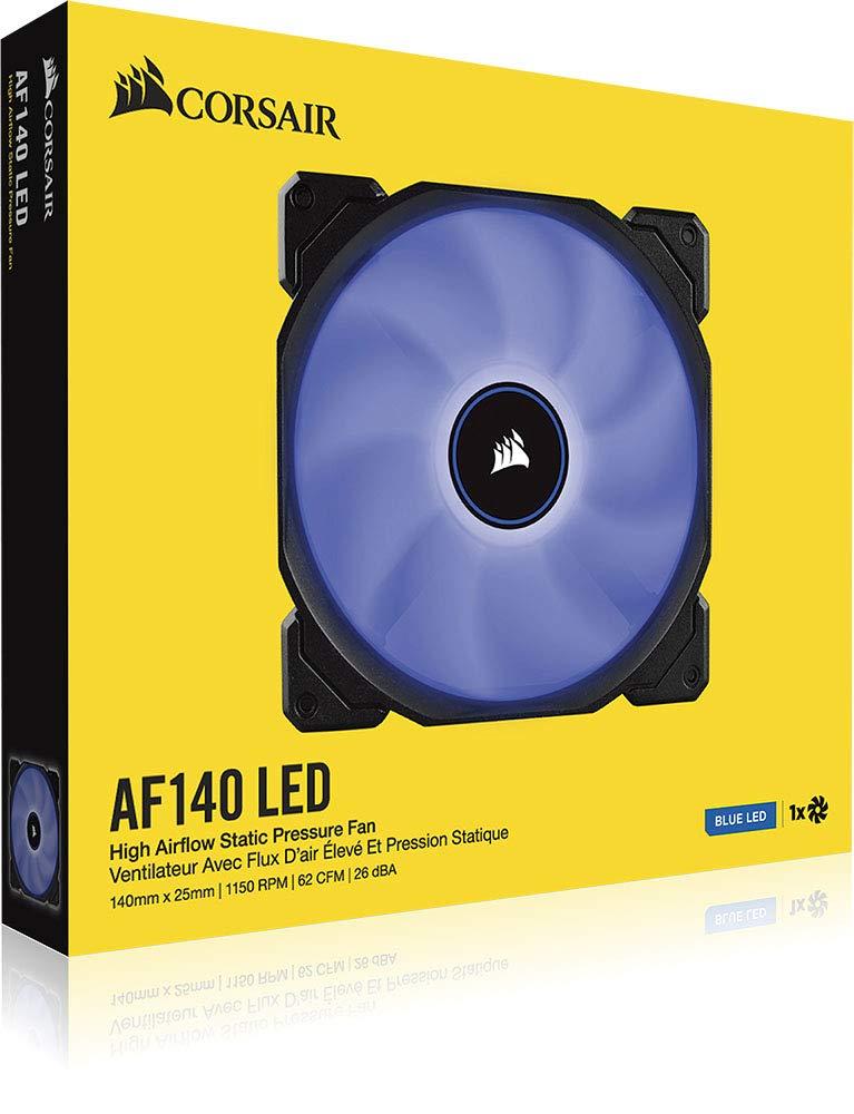 Illuminazione a LED Bianco Corsair AF120 LED Quiet Edition Ventola da 120 mm Flusso dAria Elevato Confezione Doppia