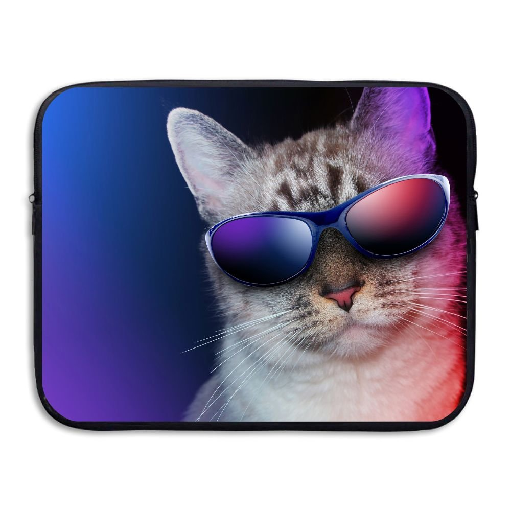 Fonsisi Laptop Storage Bag Cool Cat Sunglasses Humor Portable Waterproof Laptop Case Briefcase Sleeve Bags Cover