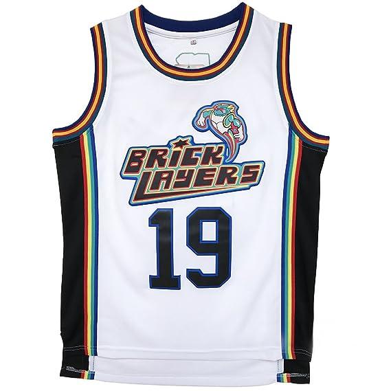a25315fe2 Amazon.com: Mens Aaliyah 19 Bricklayers MTV Rock N Jock Basketball Jersey  S-XXL: Clothing