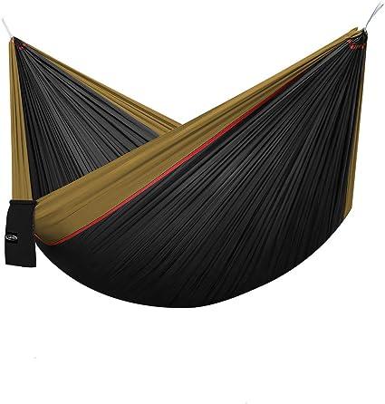 G4Free Portable 2 Person Hammock Lightweight Parachute Fabric Camping Hammock In