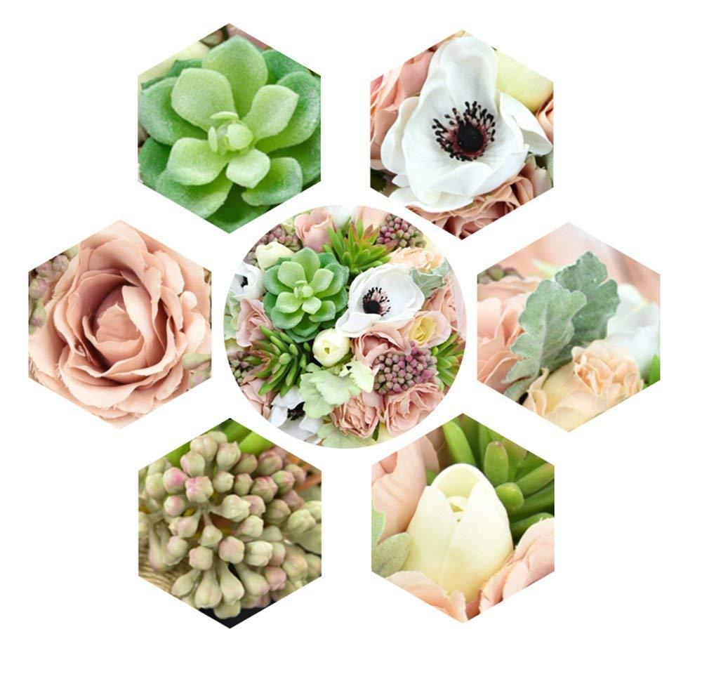 Yokoke-Wedding-Bridal-Bridesmaid-Bouquet-Wedding-Holding-Flower-Artificial-Peony-Rose-Green-Succulent-Berry-for-Wedding-Church-Party-Home-Decor