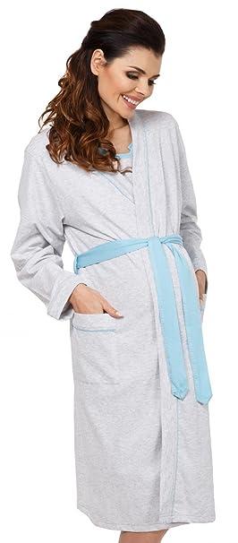nuova collezione ee5e1 c22cd Zeta Ville Prémaman - Set neo mamma camicia da notte e vestaglia - donna -  767c