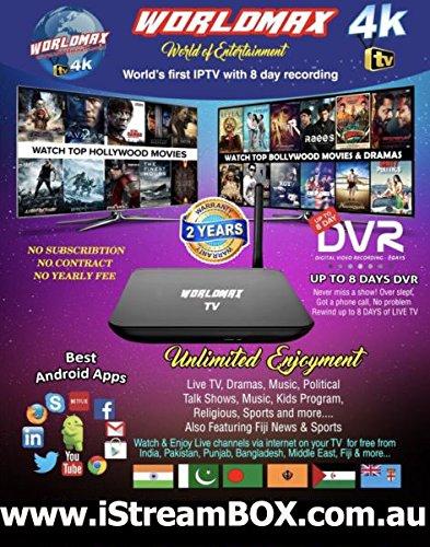 Worldmax 4K IPTV Box - Indian TV, Bengali TV, Pakistani TV, Fiji TV, Bollywood Movies Punjabi Movies, Shows - On World max 4K IPTV Box by WorldMaxTV