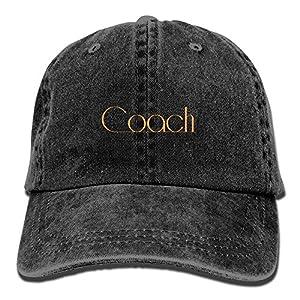 Coach WordartAdjustable Unisex Baseball Cap Snapback Hat Cotton Denim Cap