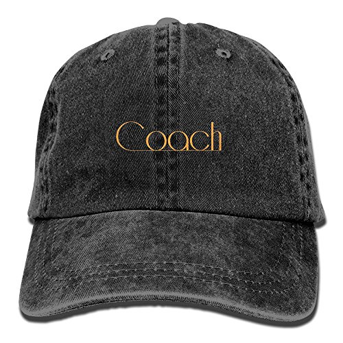 Coach WordartAdjustable Unisex Baseball Cap Cool Design Hat Cotton Denim Cap