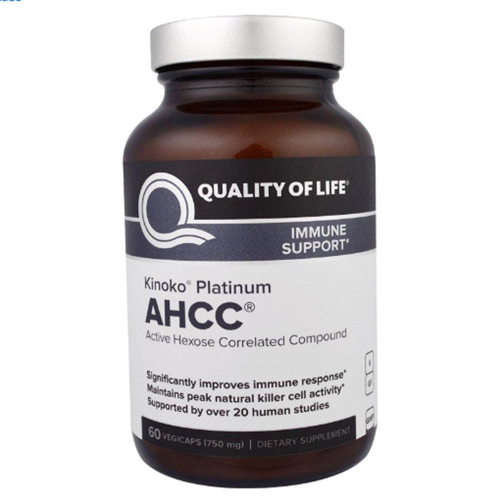 Quality of Life Labs キノコ シルバー AHCC 750mg 植物性カプセル 60錠 【アメリカ直送】 B07CTP9F5G
