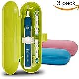 Plastica custodia da viaggio per spazzolino elettrico Oral-B Pro Series, 3confezioni (blu, rosa e verde)