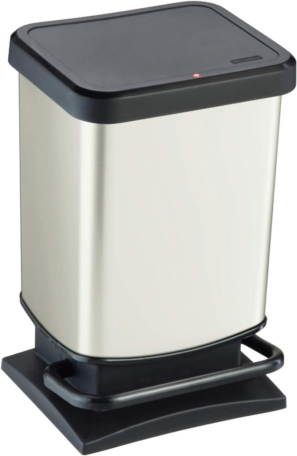 Kunststoff Cappuccino 29,3 x 26,6 x 45,7 cm PP Rotho Eco Paso M/ülleimer 20l 20 Liter