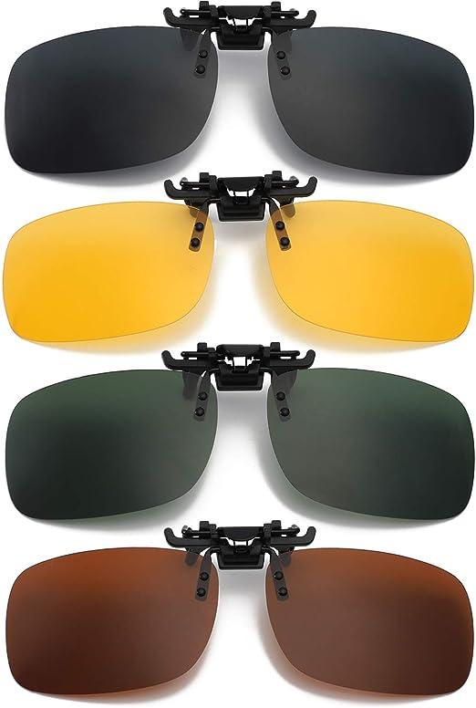 Hifot Clip Gafas de Sol polarizadas Lentes 2 Piezas, Flip up Gafas de Sol para Mujer Hombre, Suplementos de Sol para Gafas graduadas: Amazon.es: Hogar