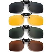 Hifot Clip Gafas de Sol polarizadas Lentes 4 Piezas, Flip up Gafas de Sol para Mujer Hombre,…