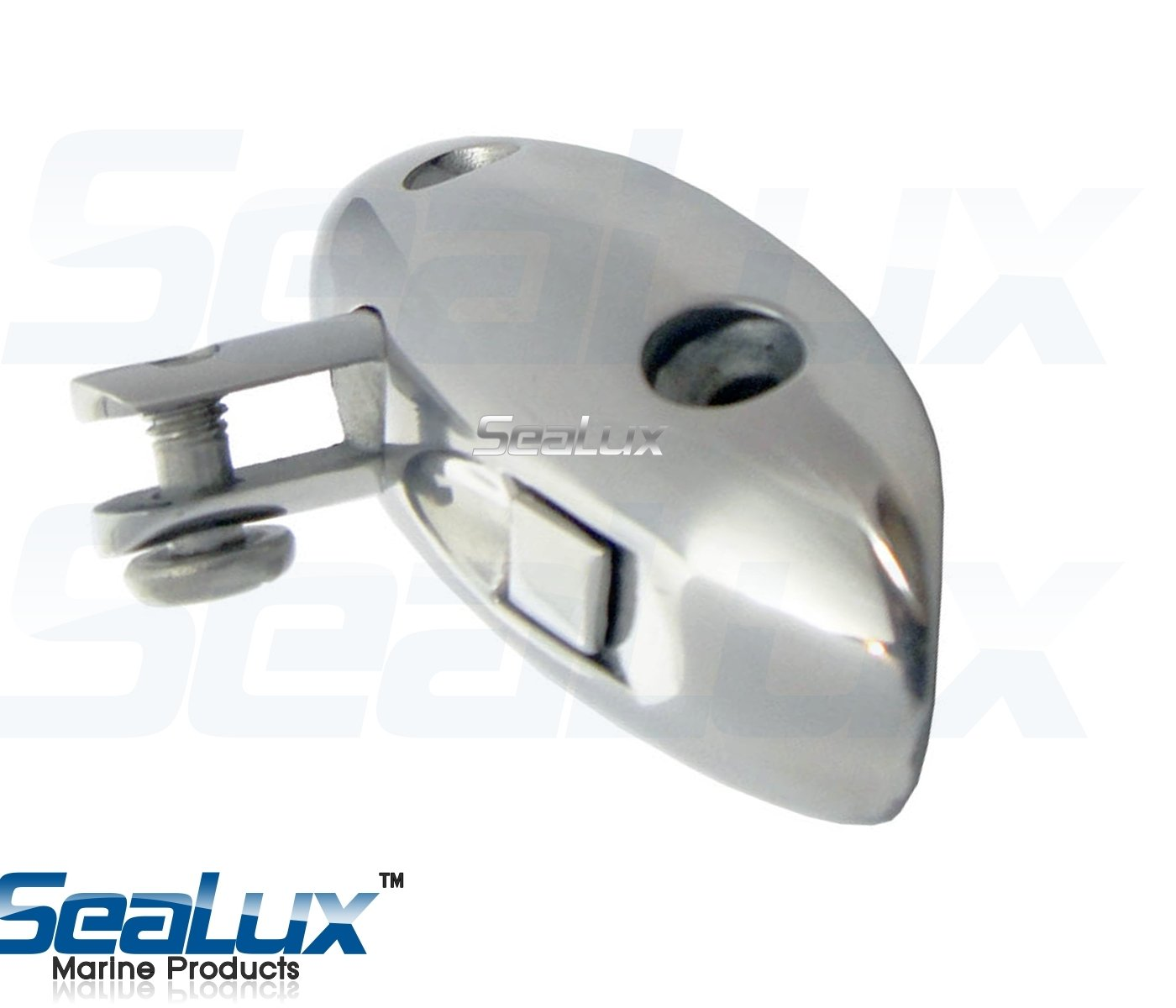 SeaLux Oval Curve Windshield (Side) Mount 90° Concave Base Saddle mount 316 Stainless Steel Swivel Quick release Hinge Marine Bimini Top Fitting- Accon Marine