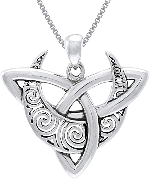 Trinity Necklace Sterling Silver Glows Naturally