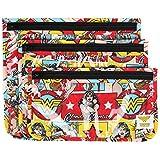 Bumkins Reusable Clear Travel Bag 3 Pack, DC Comics, Wonder Woman