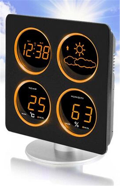 Creative Fashion Portable Mute Multifunktions-LED Elektronische Bewegungen Alarm Clock Wetter Temperatur und Luftfeuchtigkeit Anzeige