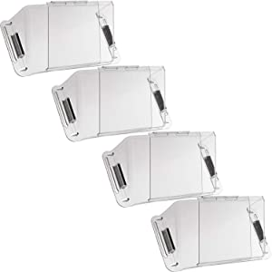 Home Intuition Adjustable Magnetic Heat and Air Deflector for Vents, Sidewall, and Ceiling Registers, 4 Pack