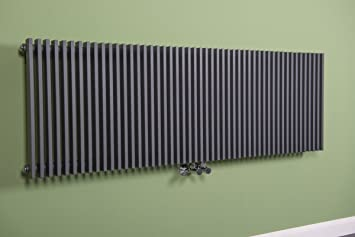Designheizkörper Designer Heizung Vertikal 500x1500 mm Grau: Amazon ...