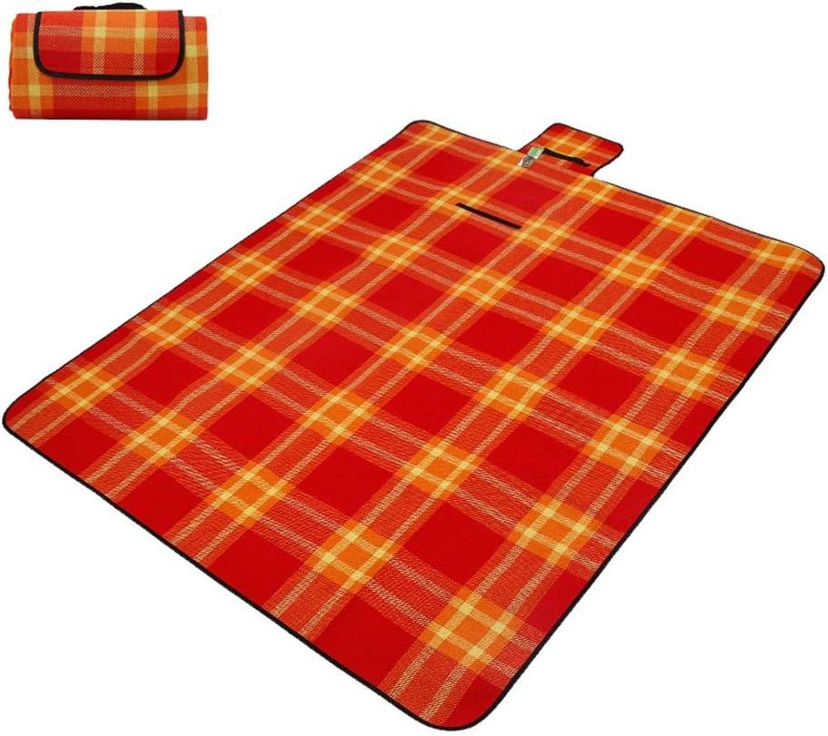 MeiMei Coperta da Picnic, 55 × 79 Pollici Outdoor Camping Picnic Mat, Acrilico Plaid Cashmere Stuoia da Picnic a Prova di umidità (Color : A) B